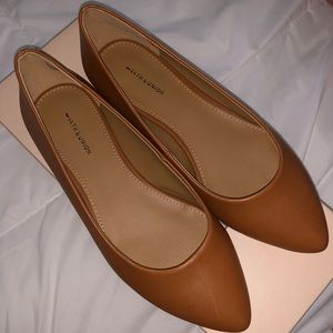 NWT 14th & Union 14th & Union Leather Pointed Flat